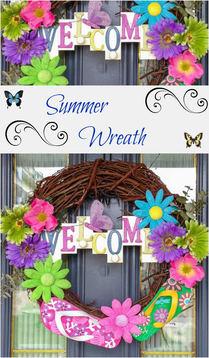 Summer Sandal Wreath
